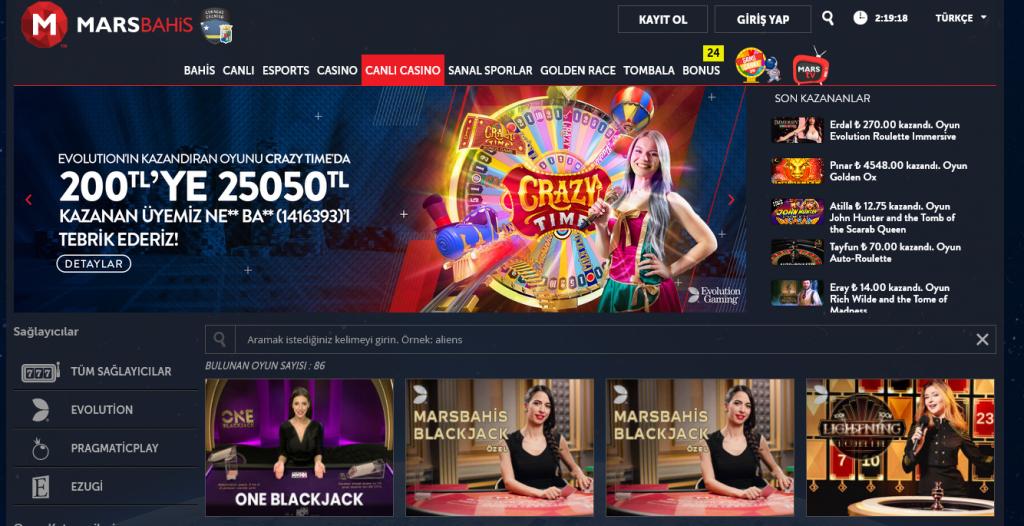 Marsbahis Canlı Casino